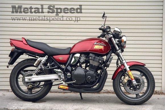 スズキ・イナズマ400用スーパーショートマフラー by メタルスピード