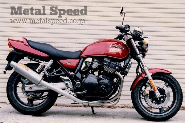 スズキ・イナズマ400用トルネードマフラー by メタルスピード