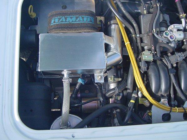 スバルサンバー用アルミエアクリーナーチャンバー (アルミヒートプレート付き)ダブルエアファンネル内蔵タイプと アルミブローバイキャッチタンクを装着