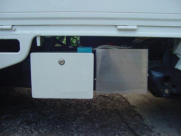 スバルサンバーパーツ, スバルサンバー用アルミメッシュバッテリーカバー