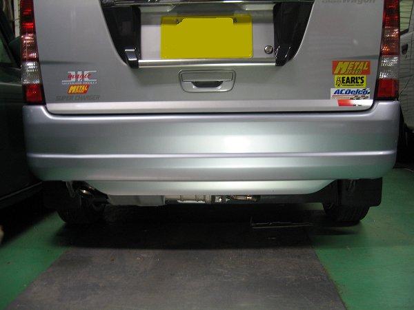 スバル・サンバーバン・ディアス用ワンオフマフラー1と新型等長エキマニ・タイプ1