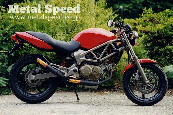 ホンダVTR250(キャブ車)用スーパーショートデュアルマフラー by メタルスピード