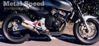 ホンダ・ホーネット250用スーパーショートミニマフラー by メタルスピード