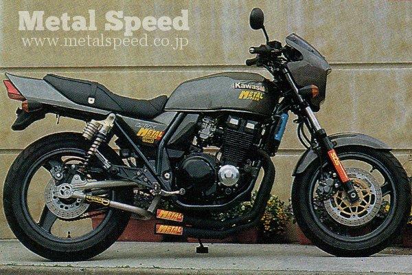 カワサキZRX400スーパーショートデュアルマフラー(スチール黒とステンレスの二種類)