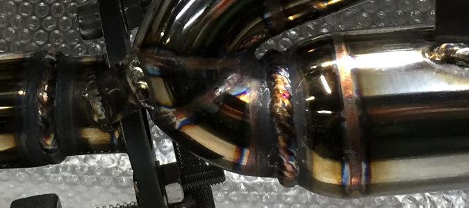 スバルサンバートラック用ワンオフマフラー 溶接部分